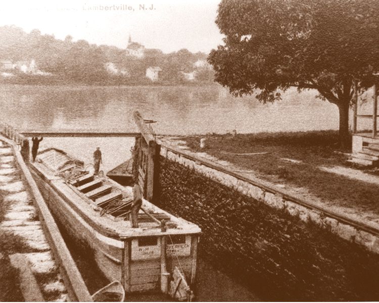 Outlet Lock at Lambertville, c.1900