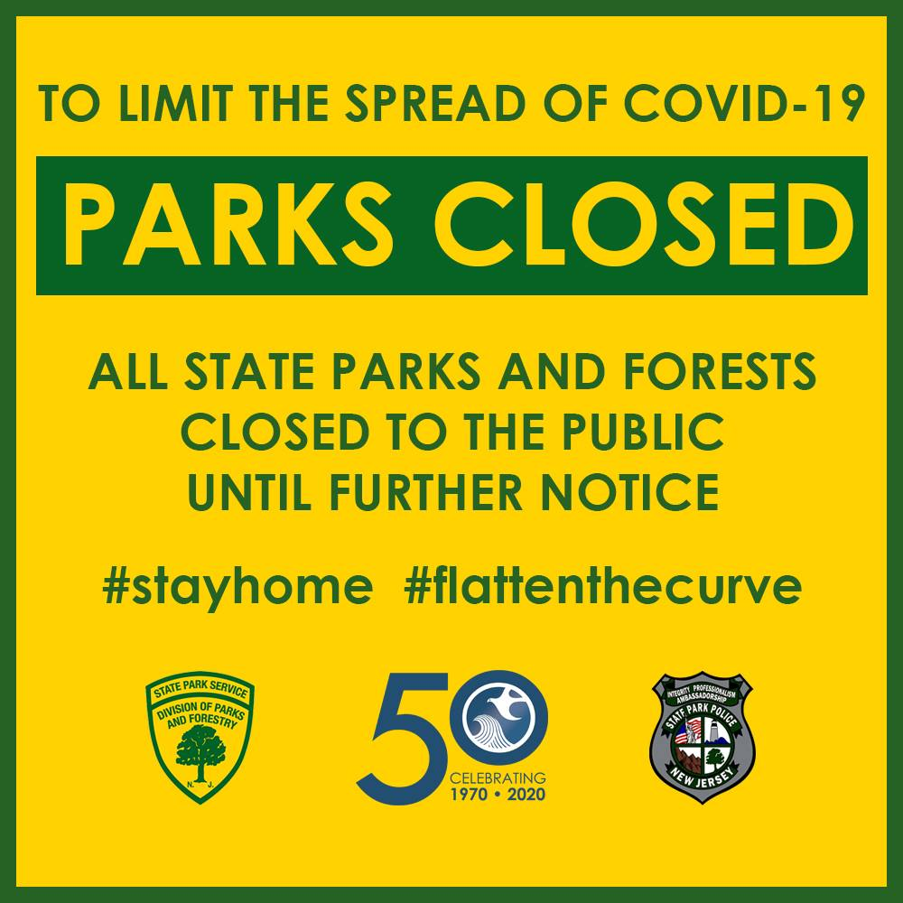 Limit the Spread of COVID-19: NJ State Parks Closed